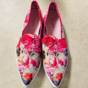 Ted Baker Thfia Pink Floral Pointy Toe Sneakers
